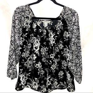 Croft & Barrow peasant blouse